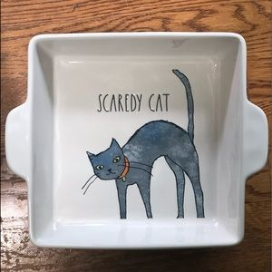 ‼️SOLD‼️NEW Rae Dunn SCAREDY CAT Square Dish